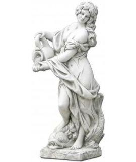 Forma do pięknej kobiety przelewającej wodę