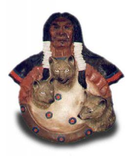Indianin z wilkami