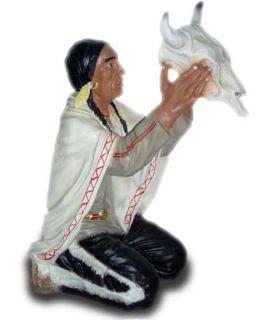 Indianin z czaszką bawoła