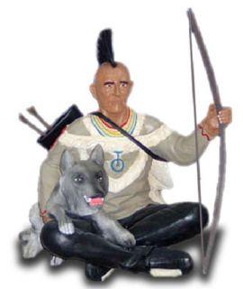 Indianin z wilkiem