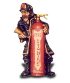 Strażak płaskorzeźba