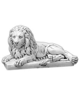 Duży lew leżący lewy