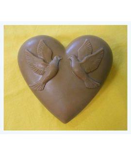 Serce z gołębiami