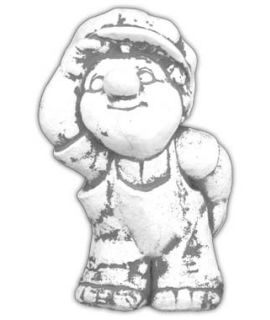 Forma do ogrodowego chłopca w czapce