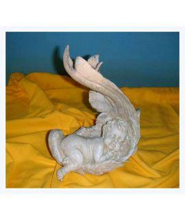 Nagusieńki śpiący aniołek świecznik