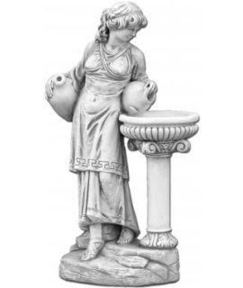 Kobieta z wazonem na kolumnie