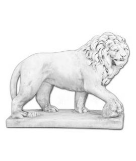 Lew z łapą na kamieniu prawy