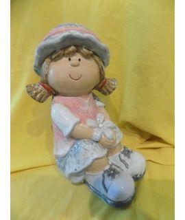 figurka gipsowa dziewczynki