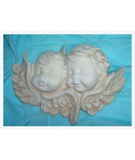 Dwa aniołki płaskorzeźba